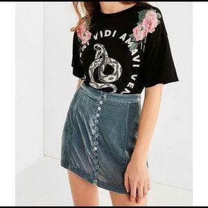 Urban Outfitters Velvet Mini Skirt Size XS